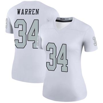 Women's Nike Las Vegas Raiders Chris Warren White Color Rush Jersey - Legend