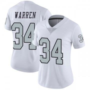 Women's Nike Las Vegas Raiders Chris Warren White Color Rush Jersey - Limited