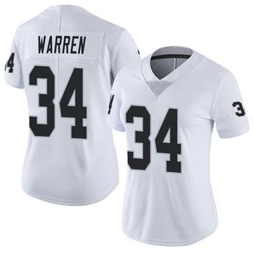 Women's Nike Las Vegas Raiders Chris Warren White Vapor Untouchable Jersey - Limited