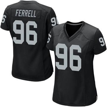Women's Nike Las Vegas Raiders Clelin Ferrell Black Team Color Jersey - Game