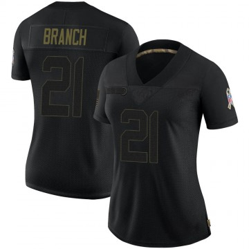 Women's Nike Las Vegas Raiders Cliff Branch Black 2020 Salute To Service Jersey - Limited