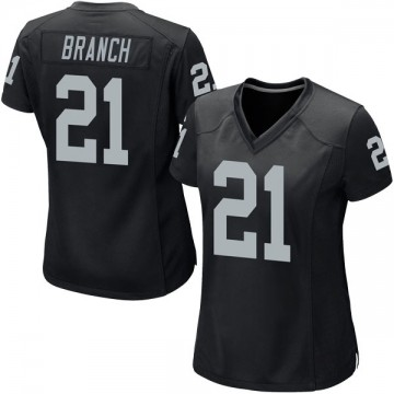 Women's Nike Las Vegas Raiders Cliff Branch Black Team Color Jersey - Game