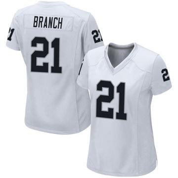 Women's Nike Las Vegas Raiders Cliff Branch White Jersey - Game