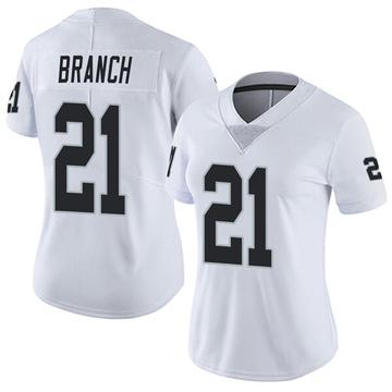 Women's Nike Las Vegas Raiders Cliff Branch White Vapor Untouchable Jersey - Limited