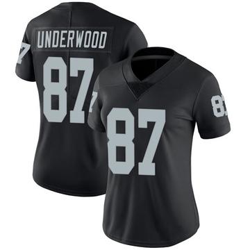 Women's Nike Las Vegas Raiders Colton Underwood Black Team Color Vapor Untouchable Jersey - Limited