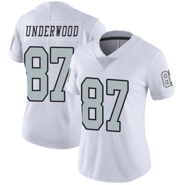 Women's Nike Las Vegas Raiders Colton Underwood White Color Rush Jersey - Limited