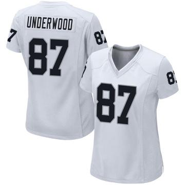 Women's Nike Las Vegas Raiders Colton Underwood White Jersey - Game