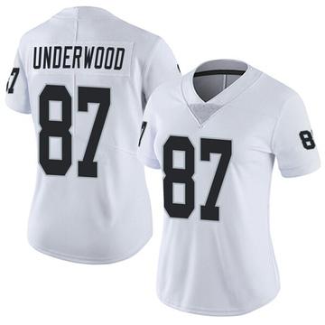 Women's Nike Las Vegas Raiders Colton Underwood White Vapor Untouchable Jersey - Limited