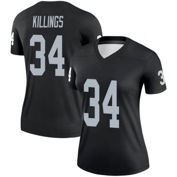 Women's Nike Las Vegas Raiders D.J. Killings Black Jersey - Legend