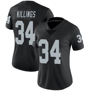 Women's Nike Las Vegas Raiders D.J. Killings Black Team Color Vapor Untouchable Jersey - Limited
