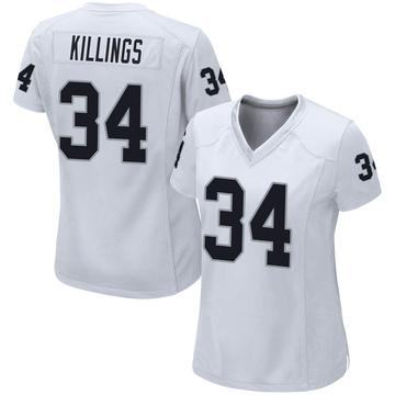 Women's Nike Las Vegas Raiders D.J. Killings White Jersey - Game