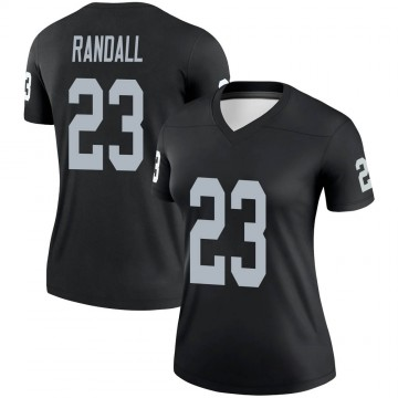 Women's Nike Las Vegas Raiders Damarious Randall Black Jersey - Legend