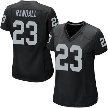 Women's Nike Las Vegas Raiders Damarious Randall Black Team Color Jersey - Game
