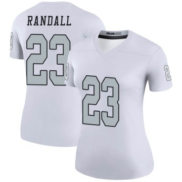 Women's Nike Las Vegas Raiders Damarious Randall White Color Rush Jersey - Legend