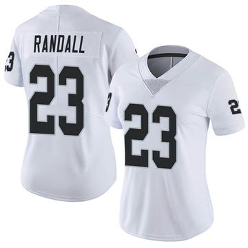 Women's Nike Las Vegas Raiders Damarious Randall White Vapor Untouchable Jersey - Limited