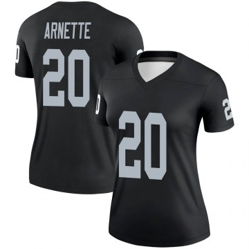 Women's Nike Las Vegas Raiders Damon Arnette Black Jersey - Legend
