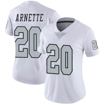 Women's Nike Las Vegas Raiders Damon Arnette White Color Rush Jersey - Limited