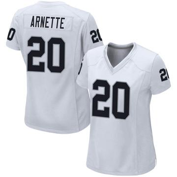 Women's Nike Las Vegas Raiders Damon Arnette White Jersey - Game