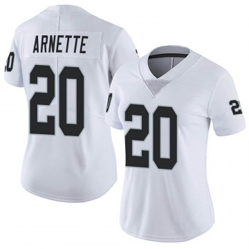 Women's Nike Las Vegas Raiders Damon Arnette White Vapor Untouchable Jersey - Limited
