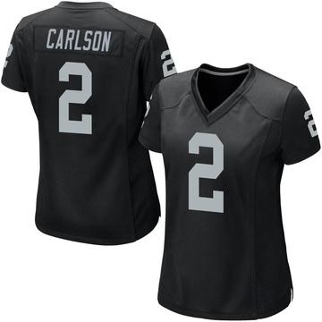Women's Nike Las Vegas Raiders Daniel Carlson Black Team Color Jersey - Game