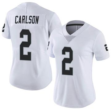Women's Nike Las Vegas Raiders Daniel Carlson White Vapor Untouchable Jersey - Limited