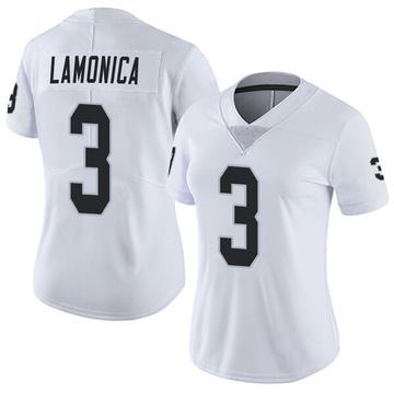 Women's Nike Las Vegas Raiders Daryle Lamonica White Vapor Untouchable Jersey - Limited
