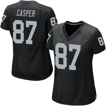 Women's Nike Las Vegas Raiders Dave Casper Black Team Color Jersey - Game