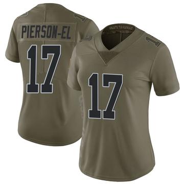 Women's Nike Las Vegas Raiders De'Mornay Pierson-El Green 2017 Salute to Service Jersey - Limited