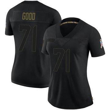 Women's Nike Las Vegas Raiders Denzelle Good Black 2020 Salute To Service Jersey - Limited