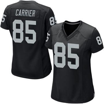 Women's Nike Las Vegas Raiders Derek Carrier Black Team Color Jersey - Game
