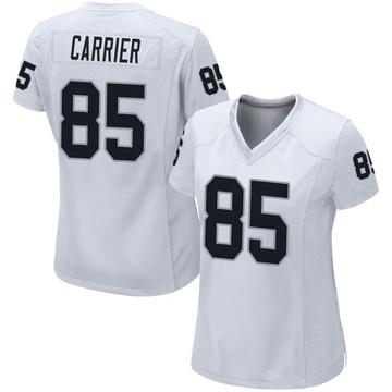 Women's Nike Las Vegas Raiders Derek Carrier White Jersey - Game