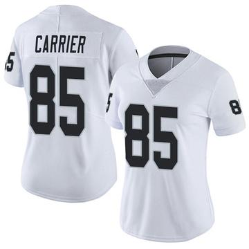 Women's Nike Las Vegas Raiders Derek Carrier White Vapor Untouchable Jersey - Limited