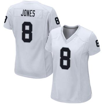 Women's Nike Las Vegas Raiders Derrick Jones White Jersey - Game