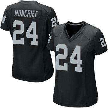 Women's Nike Las Vegas Raiders Derrick Moncrief Black Team Color Jersey - Game