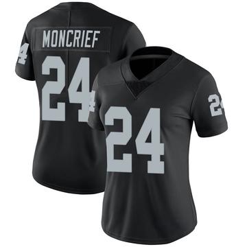 Women's Nike Las Vegas Raiders Derrick Moncrief Black Team Color Vapor Untouchable Jersey - Limited