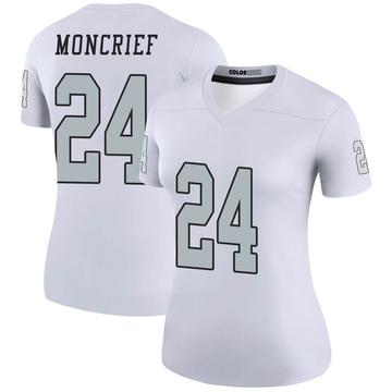 Women's Nike Las Vegas Raiders Derrick Moncrief White Color Rush Jersey - Legend