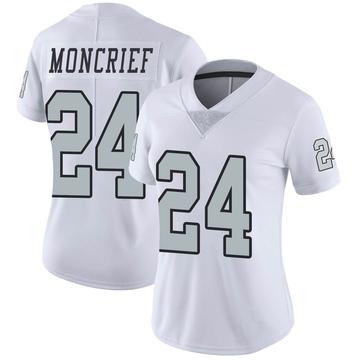Women's Nike Las Vegas Raiders Derrick Moncrief White Color Rush Jersey - Limited