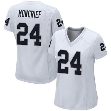 Women's Nike Las Vegas Raiders Derrick Moncrief White Jersey - Game