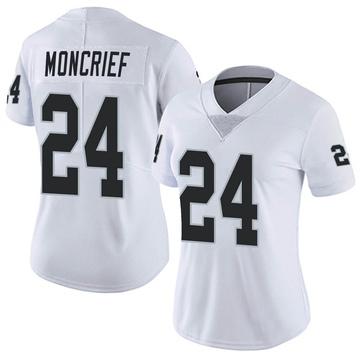 Women's Nike Las Vegas Raiders Derrick Moncrief White Vapor Untouchable Jersey - Limited