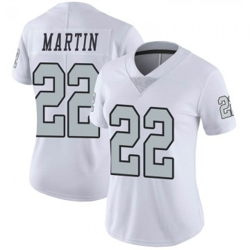 Women's Nike Las Vegas Raiders Doug Martin White Color Rush Jersey - Limited