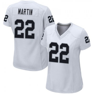 Women's Nike Las Vegas Raiders Doug Martin White Jersey - Game
