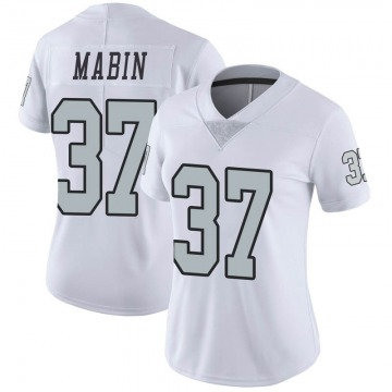 Women's Nike Las Vegas Raiders Dylan Mabin White Color Rush Jersey - Limited