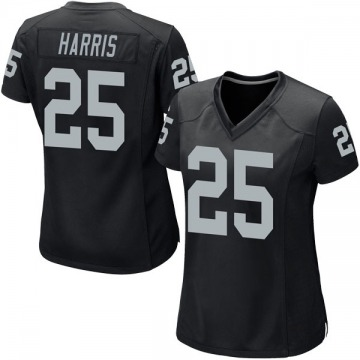 Women's Nike Las Vegas Raiders Erik Harris Black Team Color Jersey - Game