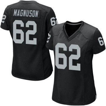 Women's Nike Las Vegas Raiders Erik Magnuson Black Team Color Jersey - Game