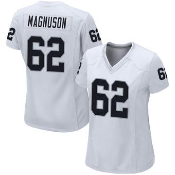 Women's Nike Las Vegas Raiders Erik Magnuson White Jersey - Game