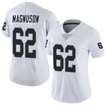 Women's Nike Las Vegas Raiders Erik Magnuson White Vapor Untouchable Jersey - Limited