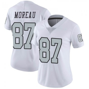 Women's Nike Las Vegas Raiders Foster Moreau White Color Rush Jersey - Limited