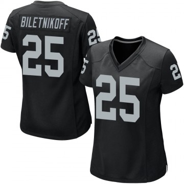 Women's Nike Las Vegas Raiders Fred Biletnikoff Black Team Color Jersey - Game