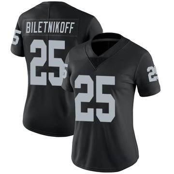 Women's Nike Las Vegas Raiders Fred Biletnikoff Black Team Color Vapor Untouchable Jersey - Limited