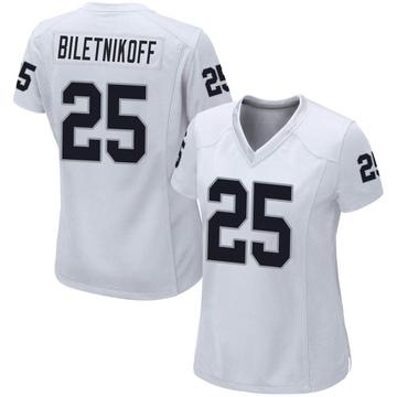 Women's Nike Las Vegas Raiders Fred Biletnikoff White Jersey - Game